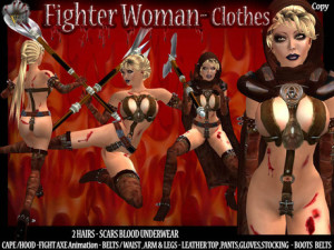 FIGHTER WOMAN - CLOTHES - ADV - SLX