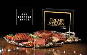 Courtesy of the Sharper Image Caption¤ ¤ Special Instructions:¤ ¤I'm giving a disc of photos of Donald Trump and his new line of steaks, carried by the Sharper Image, to photo -- need to have shots inputted into Merlin.